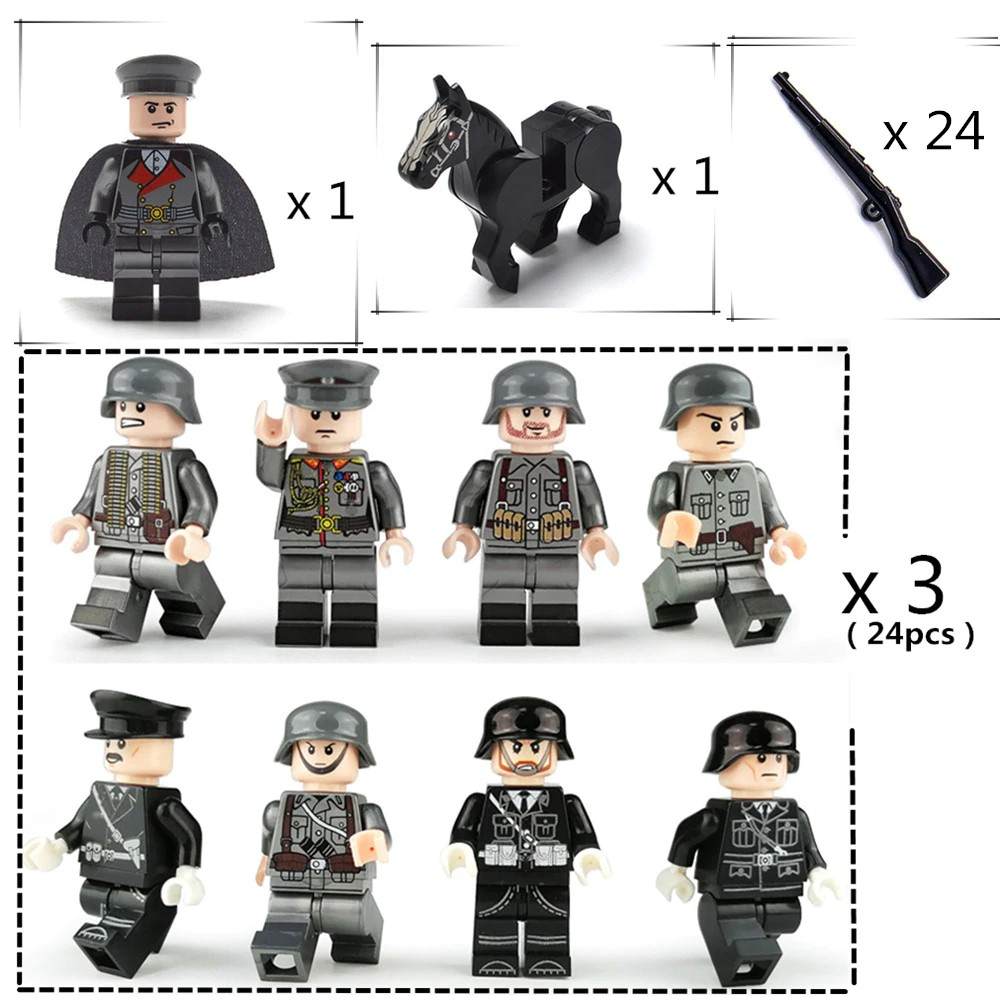 Police SWAT Series Helicopter Weapons uniforms Fit Lego Building Blocks Toys