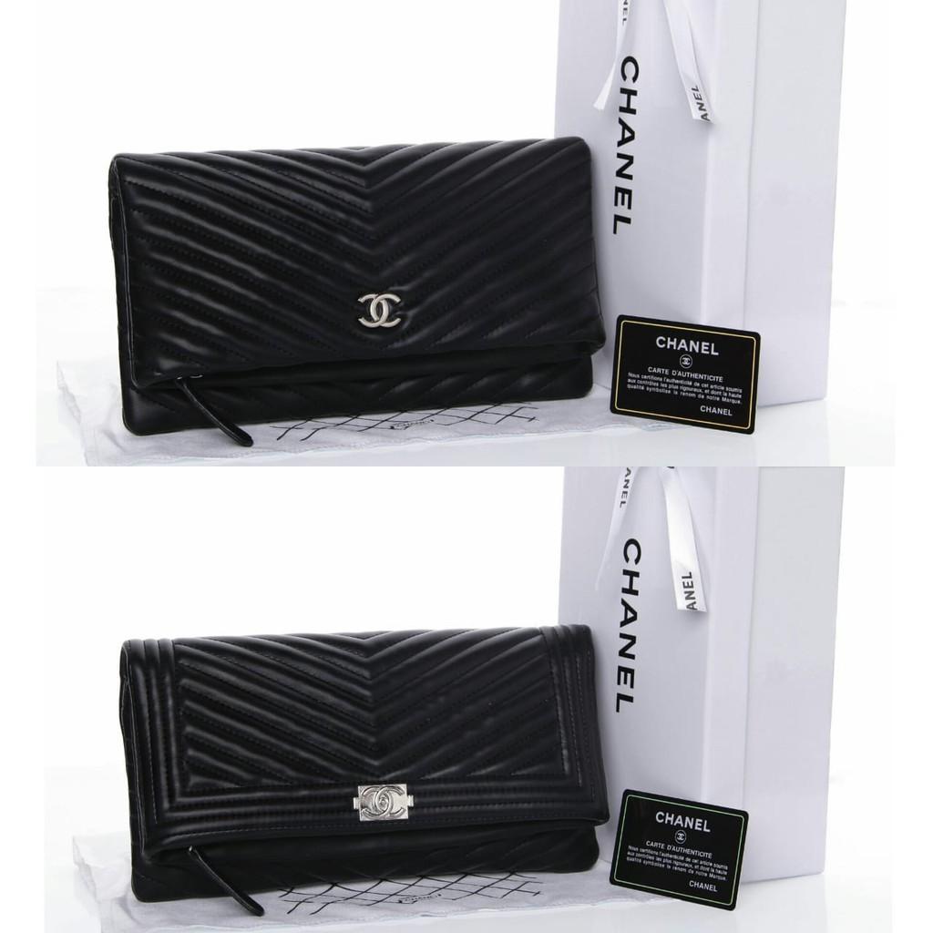 2fe751160c24 TAS BRANDED IMPORT MURAH - Pouch Chanel O Case Lambskin Large SHW HITAM Seprem  Box 2018   Shopee Indonesia