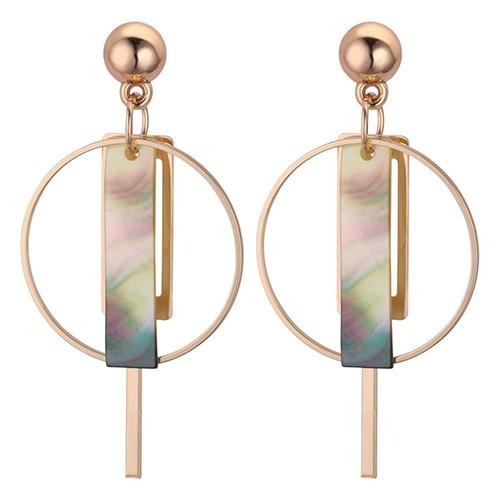 LRC Anting Tusuk Elegant Sector Shape Decorated Long Earrings | Shopee Indonesia