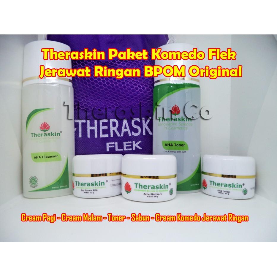 Theraskin Aha Cleanser Pembersih Wajah Flek Original Bpom Shopee Indonesia