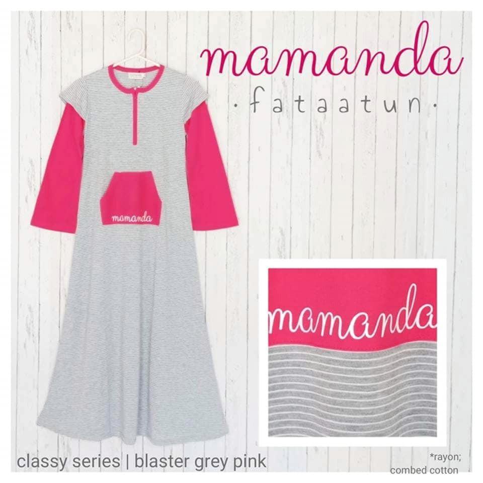 Gamis Remaja/Dewasa Blaster Grey Pink by Mamanda