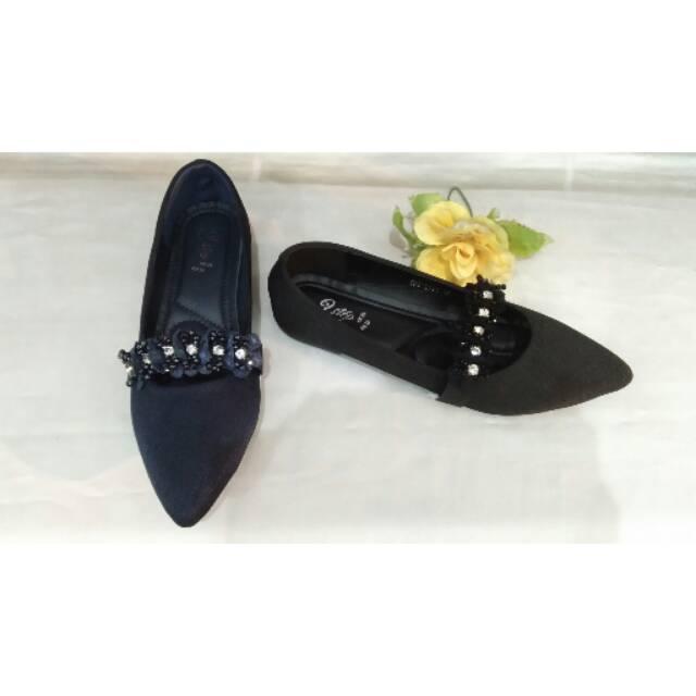 Sepatu wanita 2step 928L001 hitam/navy