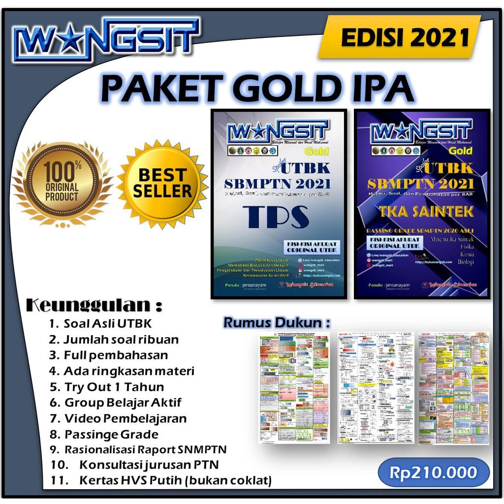 GOLD IPA Paket Buku Wangsit UTBK SBMPTN 2021 | 2 buku ...