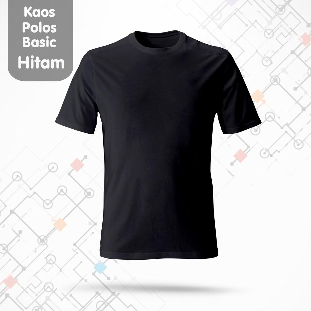 Kaos Polos Basic Hitam O Neck High Quality Cotton Shopee Indonesia