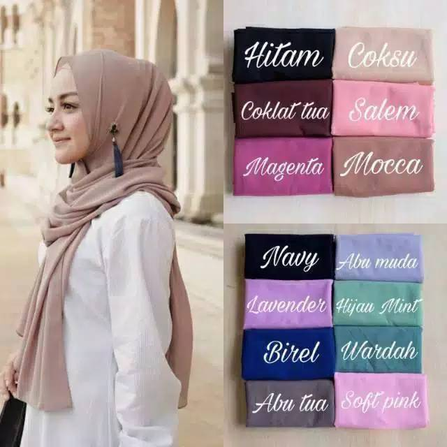 Jilbab Pashmina Sabyan Diamond Italiano Shopee Indonesia