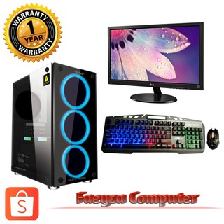 Pc Lengkap Ryzen 5 3400G / HDD 500GB / DDR 8GB / Monitor 20 inci LG