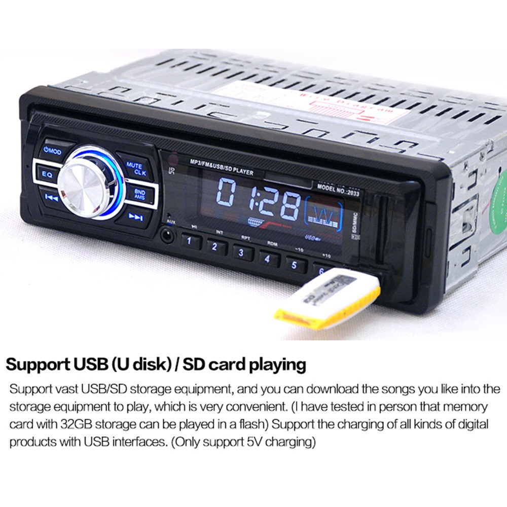 Modul Decoder Audio Mobil Support Radio FM / TF / USB / AUX | Shopee Indonesia