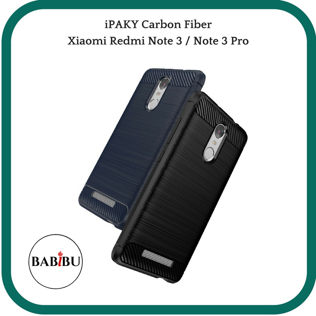 Xiaomi Redmi Note 3 - iPaky Carbon Fiber Shockproof Hybrid Case For Xiaomi Redmi Note 3 / Note 3 Pro | Shopee Indonesia