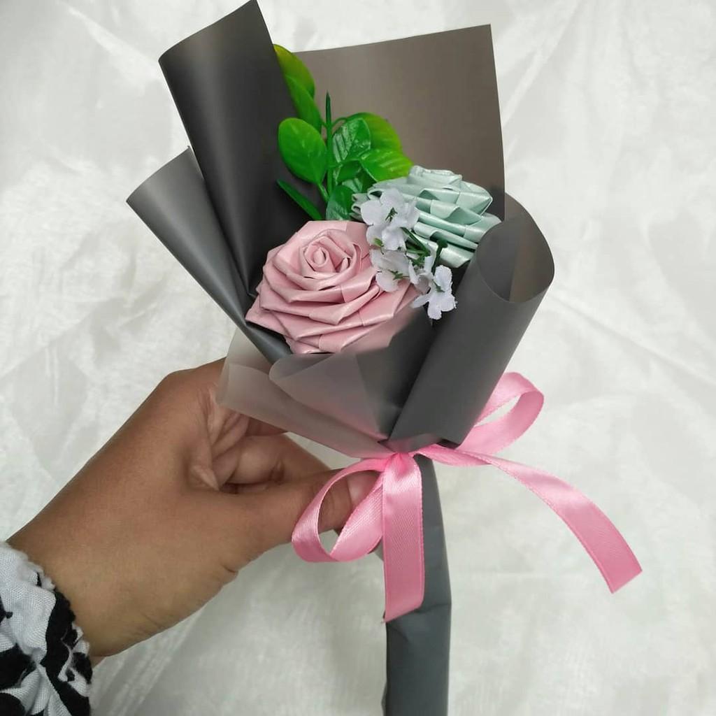 Paper Rose Mini Bouquet Buket Bunga Kertas Mini Shopee Indonesia