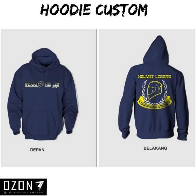 Sweater Jaket Polos Custome Desian Suka Suka 2 Sisi Depan Belakang Shopee Indonesia