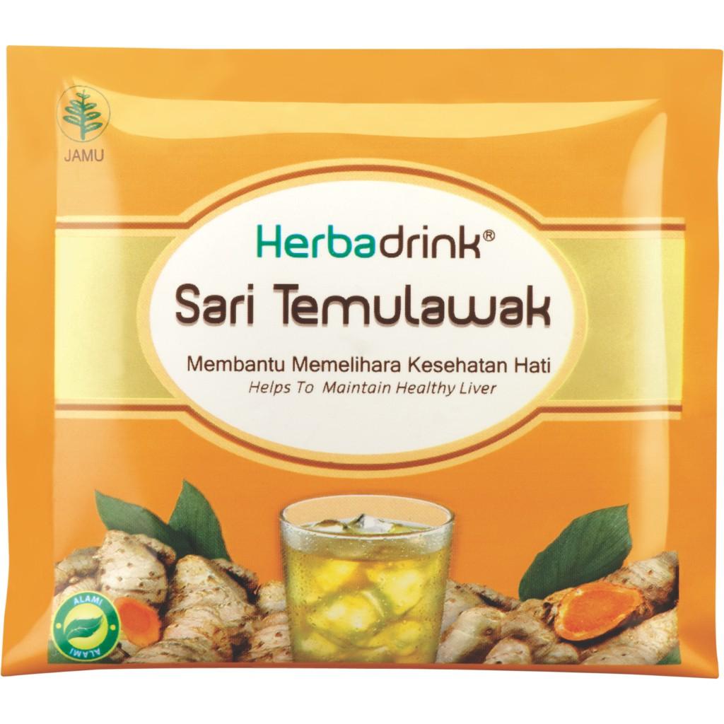 Herbadrink Sari Temulawak Serbuk Minuman Jaga Kesehatan Fungsi Hati Paket Beras Kencur Instan Dan 1 Shopee Indonesia