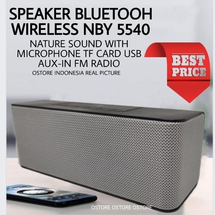 Nby 5540 Bluetooth Speaker Wireless Sound Box Fm Radio Dual 5W - Hitam