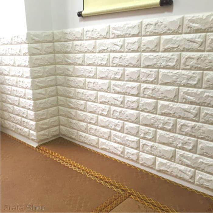 Wallpaper Dinding Bata Foam 3D / Stiker Dinding Batu Bata