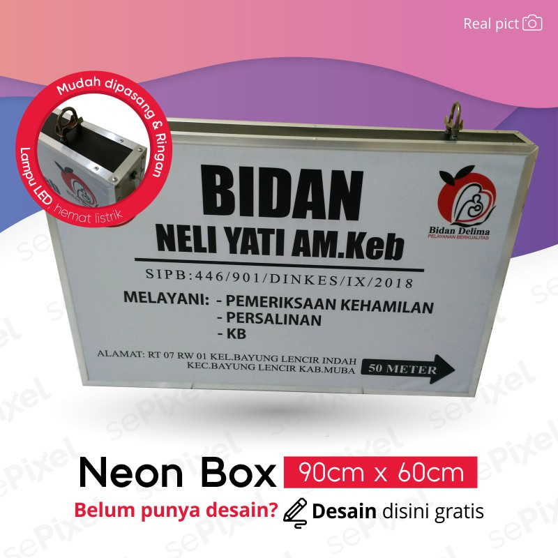 De Sain Neon Box: Buat Pesan Dan Desain Neon Box Bidan / Dokter Gigi