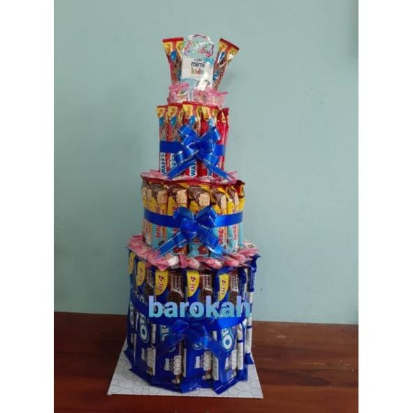 kue ulang tahun snack / snack tart / kue ultah snack/snack tower/snack Graduation
