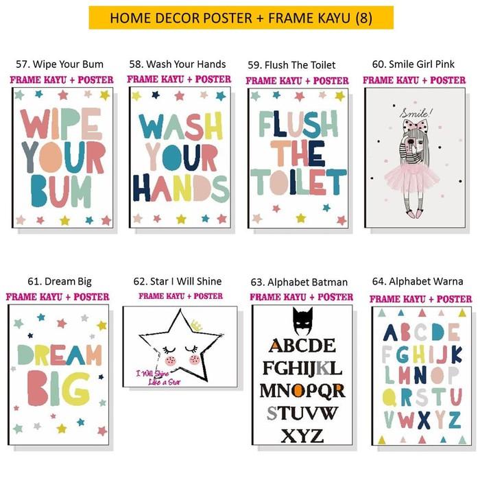 Home Decor Frame Kayu Poster Spanram Quotes Hiasan Pajangan Dinding Kantor Rumah Kamar Shabby Chic |