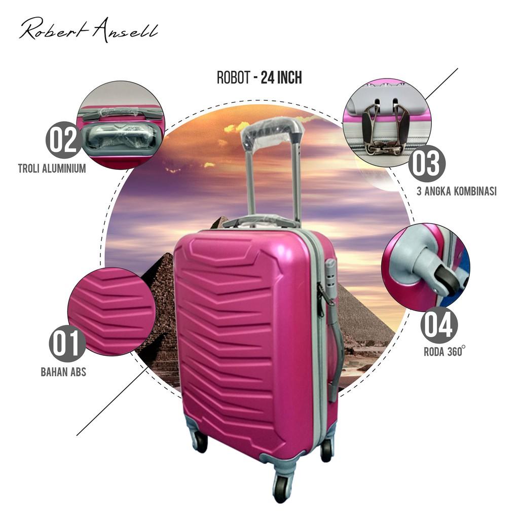 Real Polo Tas Koper Hardcase Fiber Abs 4 Roda Putar 7716 Size 20 22 Inci  Pabrik Ggaf