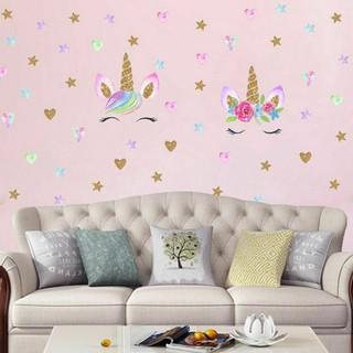 Stiker Dinding Decal Desain Unicorn Untuk Dekorasi Kamar Anak Perempuan Shopee Indonesia