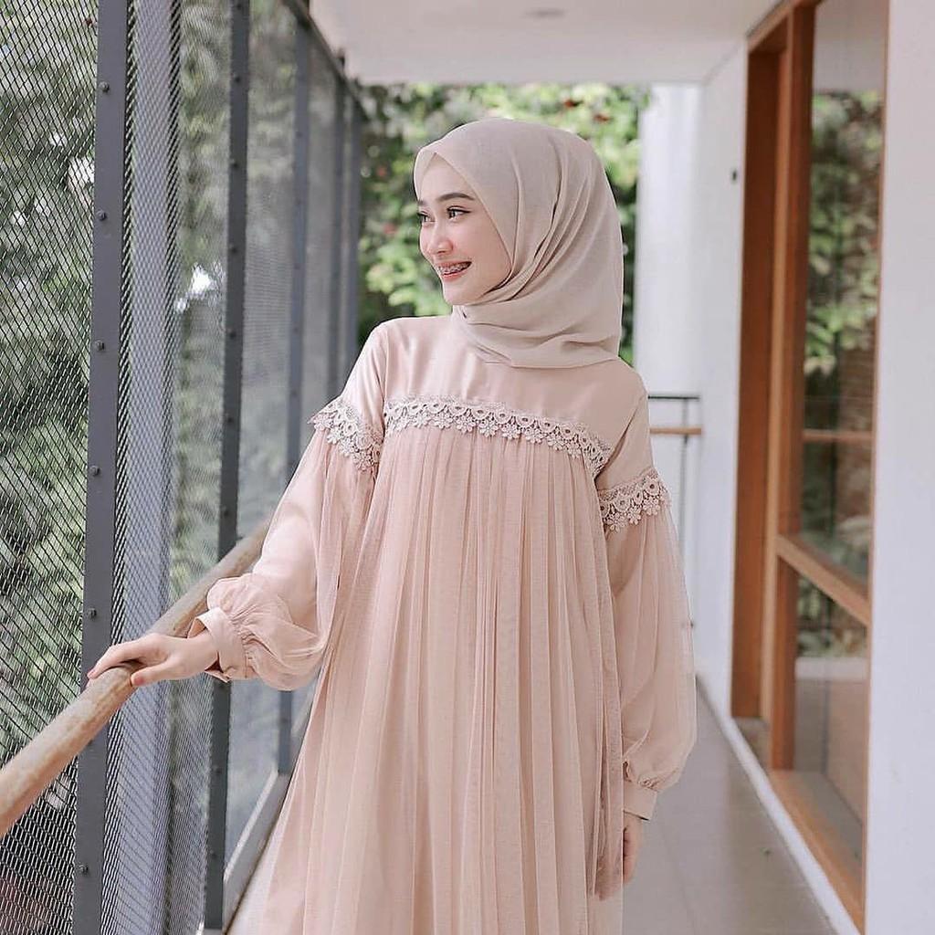 Baju Kondangan Gamis Wanita Brukat Remaja Terbaru Dress Bridesmaid Maxy Jumbo Syari Original Shopee Indonesia