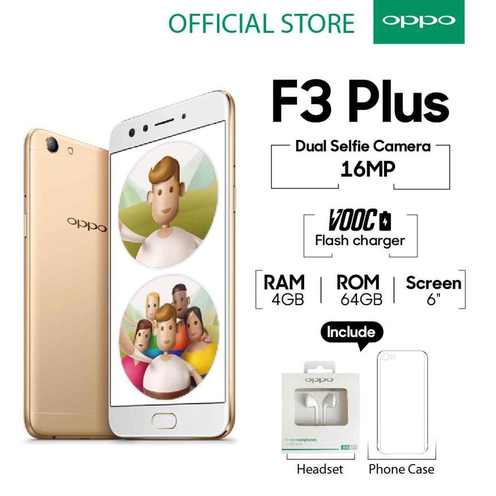 OPPO F3 Plus SMARTPHONE 64 GB Gold Smart Selfie (COD,Garansi Resmi OPPO, Cicilan 0%, Gratis Ongkir)   Shopee Indonesia