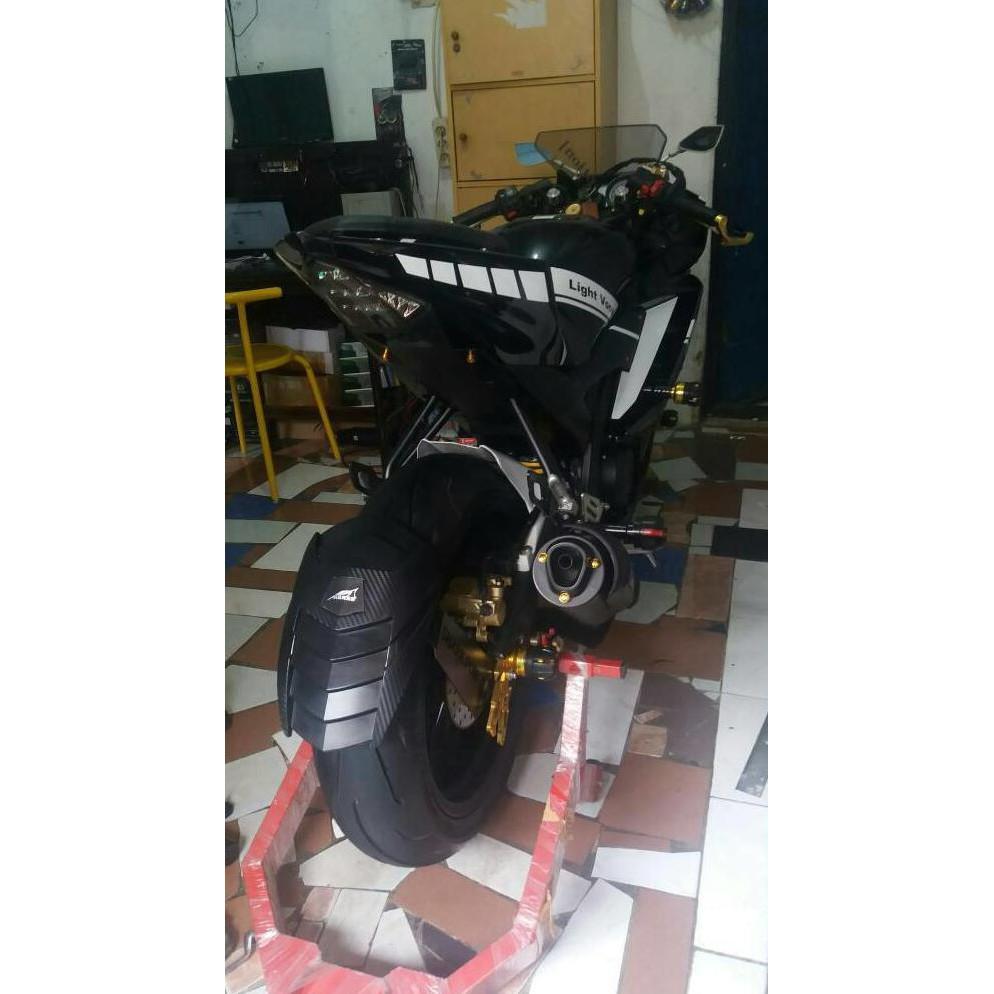 Bigsale Mudguard Msx Racing Xabre R25 R15 Dll Spion Tomok 2 Kombinasi Plastik Cnc Universal Mt25 Nmax Shopee Indonesia