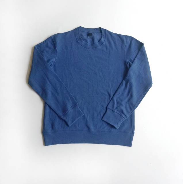 Sweater UNIQLO men ultra stretch long sleeve blue