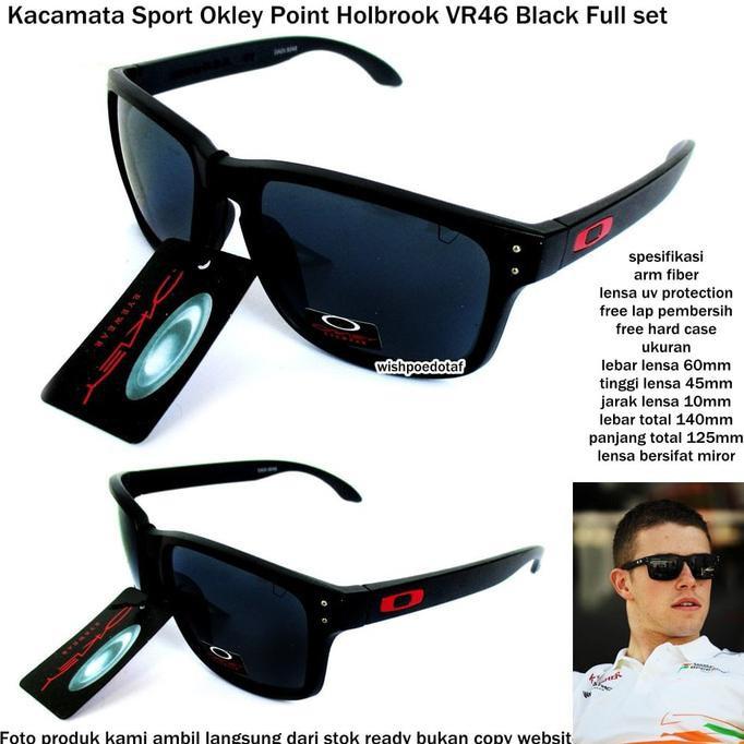 Terkini   Kacamata Pria Sport Okl Holbrook Vr46 Full Set Hitam + ... bde73b5b15