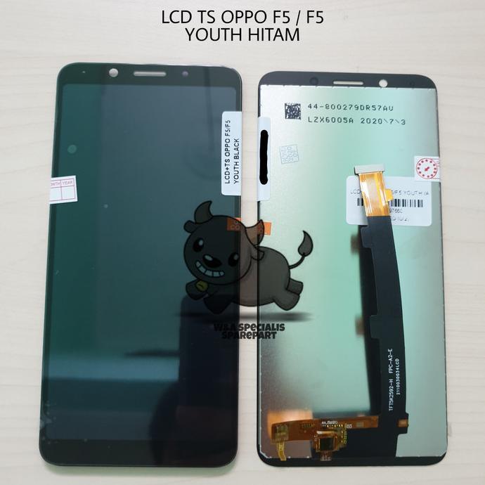 LCD TOUCHSCREEN OPPO F5 YOUTH F 5 HITAM ORIGINAL