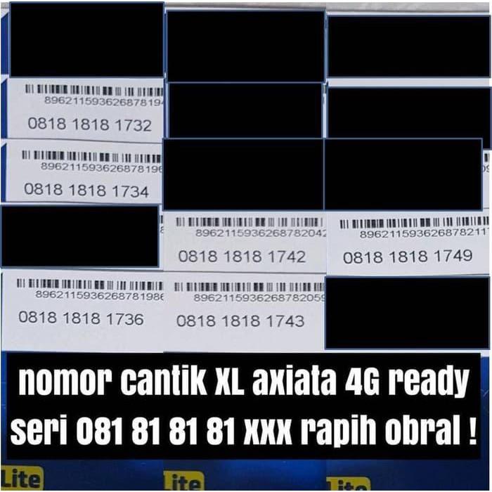 KARTU PERDANA NOMER CANTIK XL AXIATA 4G READY NOMOR PILIHAN RAPI OBRAL MURAH | Shopee Indonesia