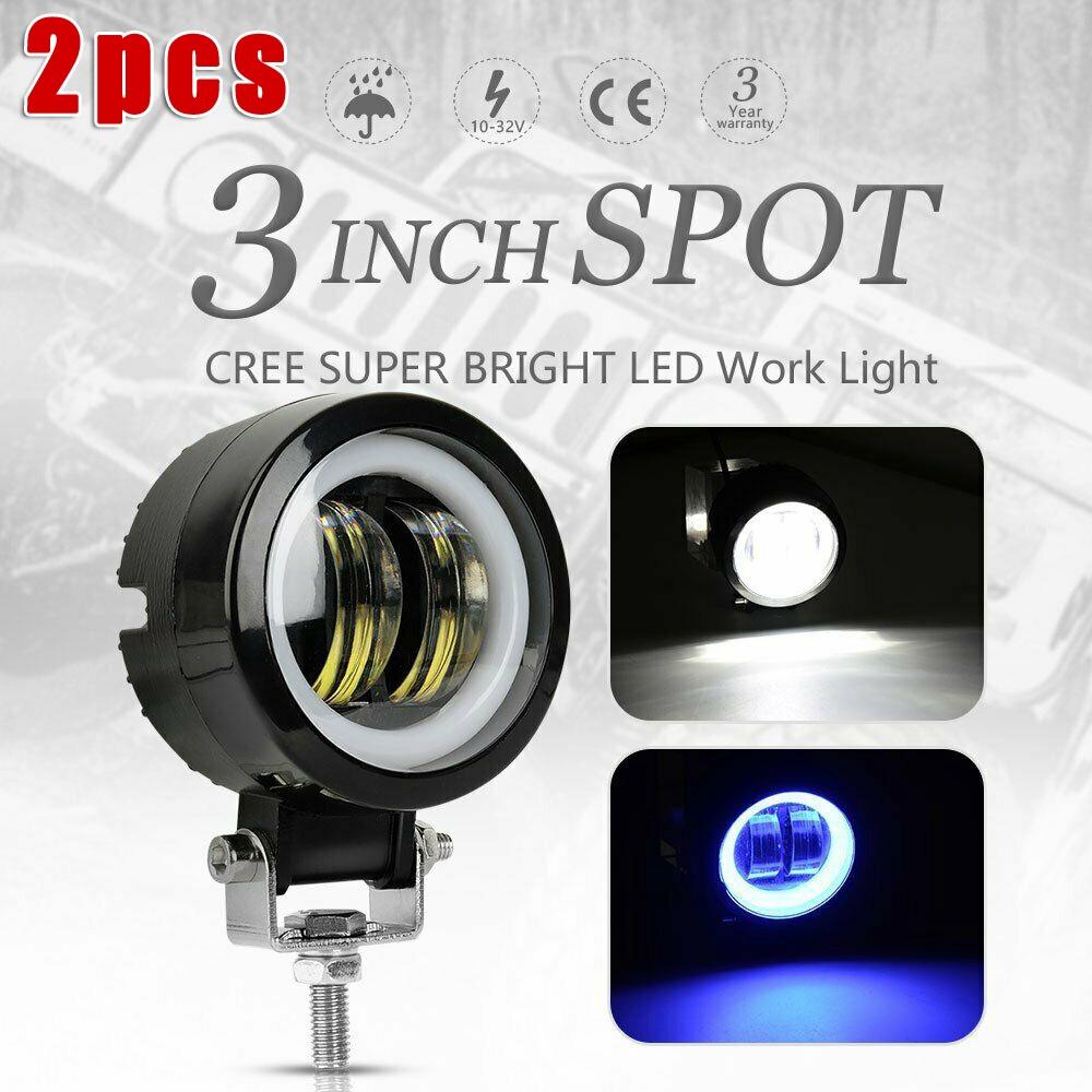 2 x 7.5w Cree Led Projector Lens Xenon Headlight Fog Light Bulbs