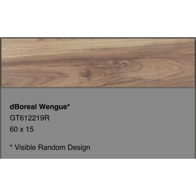 Granit Roman 60x15 motif kayu Grade A