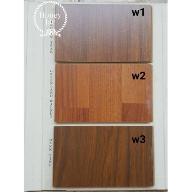 Sample Material Interior Lantai Parket Kayu Laminate Wood Flooring Teak Oak Pine Walnut Shopee Indonesia