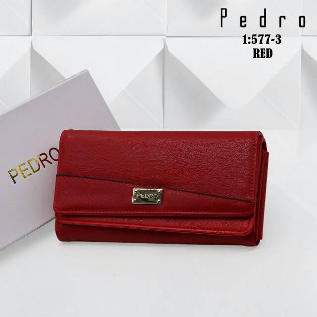 PEDRO LEATHER BIFOLD CONTINENTAL WALLET PW4-15940008 Dompet Pedro Original  Ori Wanita Branded Import  4217fc6c73