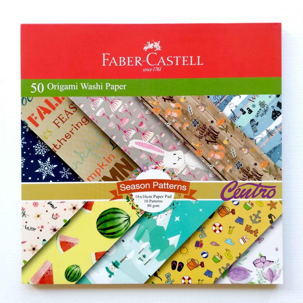 Faber Castell Origami / Washi Paper / Christmas Season Patterns 16x16CM | Shopee Indonesia