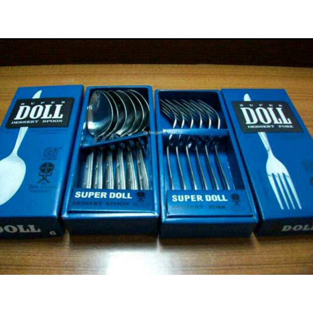 12bh Sendok Makan Stainless Steel Tebal Ukir Bunga Mawar Shopee Super Doll 6 Pcs Pack Indonesia