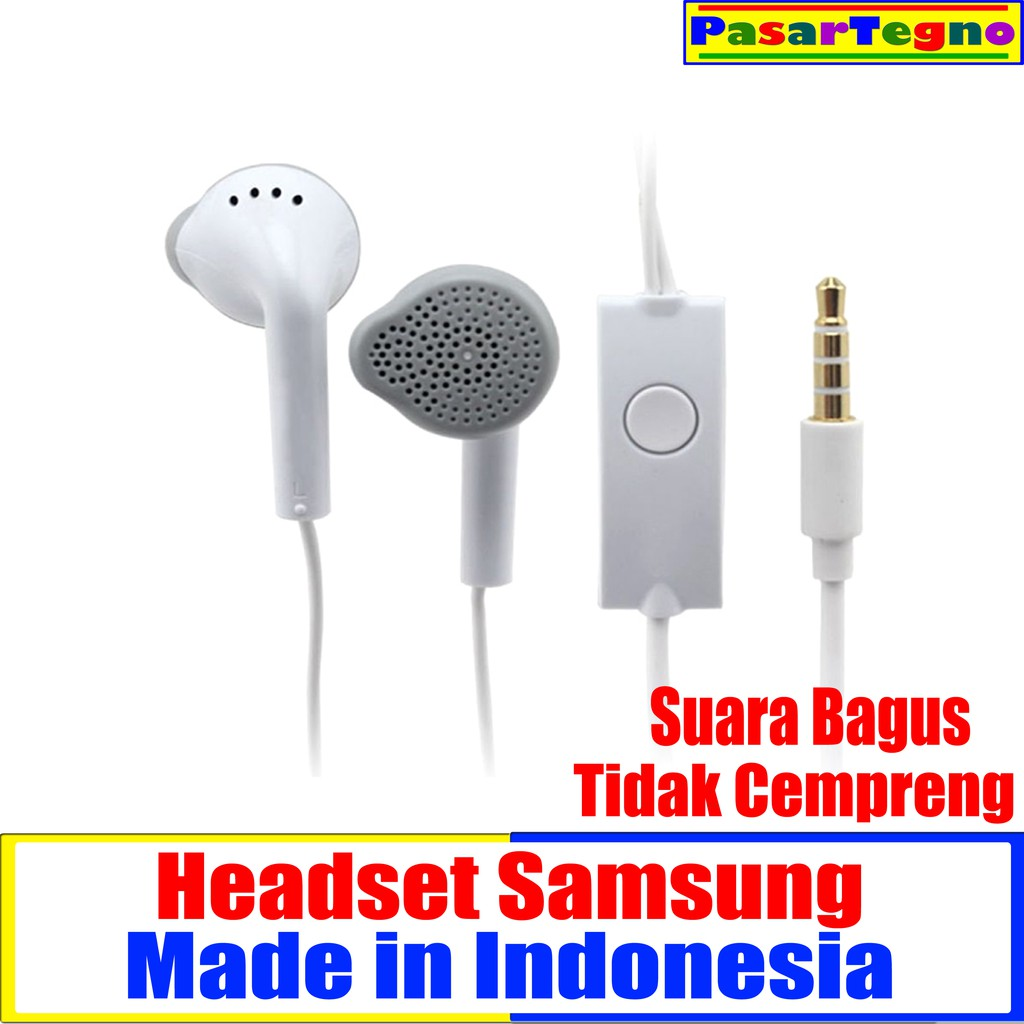 Handsfree Headset Samsung Earphone Shopee Indonesia Hm 60 Hitam