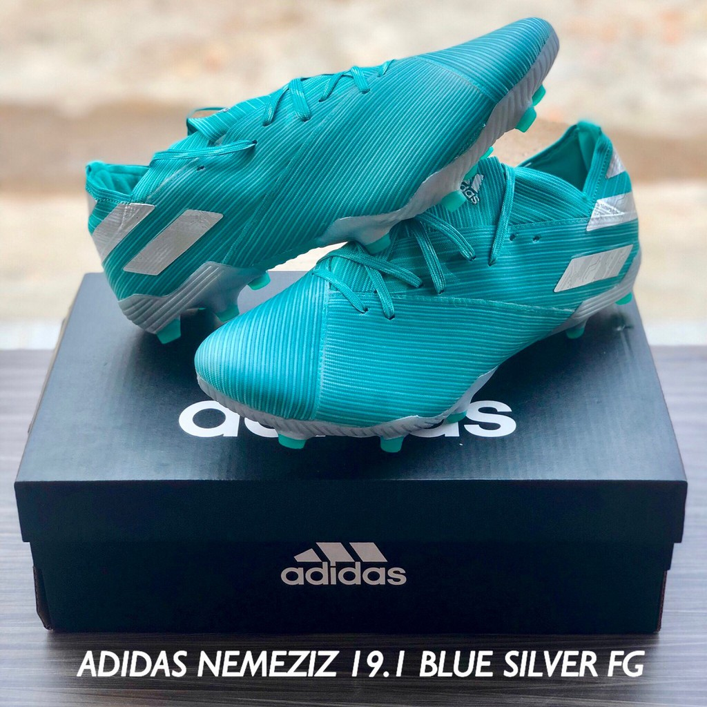 Sepatu Bola Adidas Nemeziz 19 1 Blue Silver Fg Shopee Indonesia