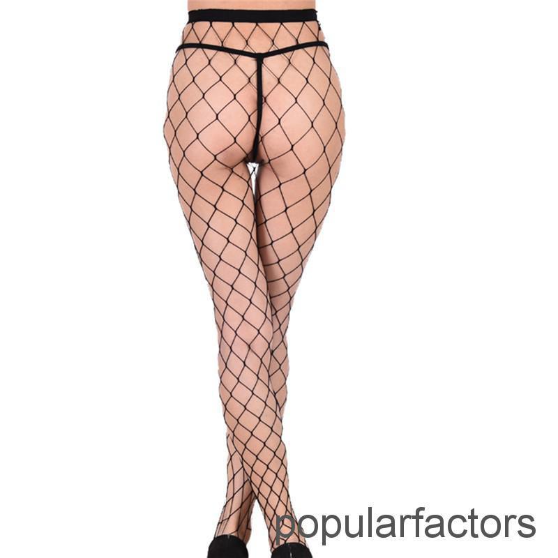 Women Ladies Black Fishnet Net Pattern Burlesque Hoise Tights Pantyhose One Size