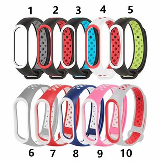 Stock Strap Pengganti Bahan Silikon Lembut Warna Hitam / Merah Untuk Xiaomi Mi Band 3
