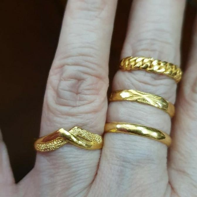 Cincin emas polos 99% 24k 24 karat 3 gram 3gram emas asli kuning