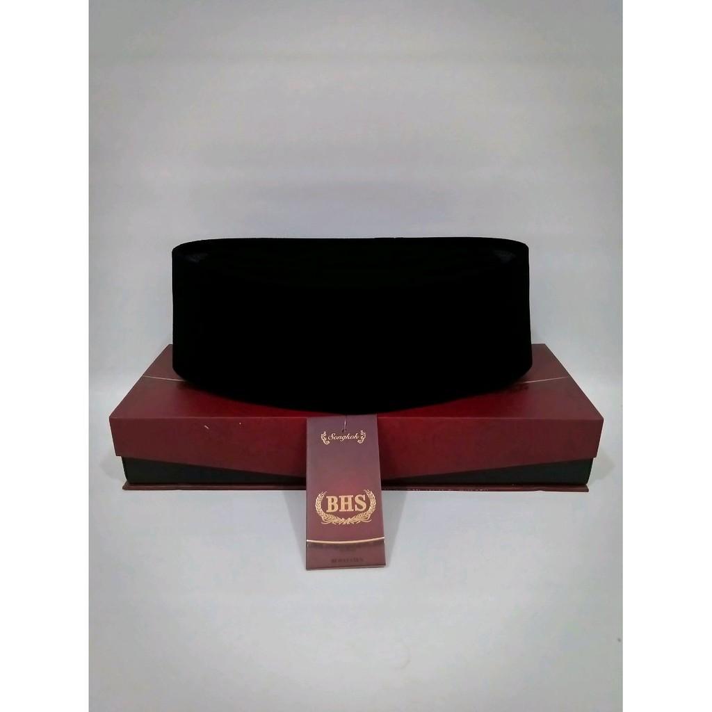 Peci BHS AC - Songkok BHS model AC - Kopiah hitam polos merk BHS