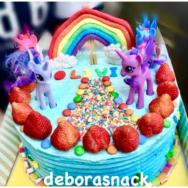My Little Pony Custom Birthday Cake By Che Eunice Kue Ulang Tahun Custom My Little Pony