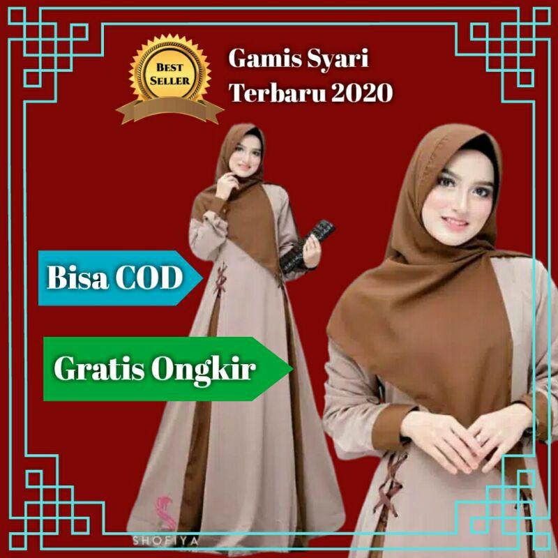 Baju Gamis Syari Terbaru Muslim Murah Wanita 2020 Shopee Indonesia