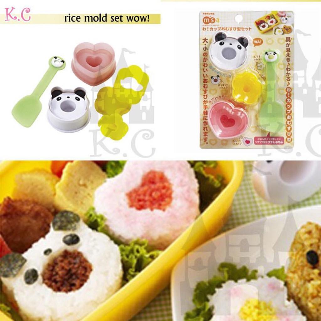 Paket Cetakan Bento Isi 4 Bisa Untuk Sandwich Dan Nasi Mold Bunny Jelly Rice Makanan Multicolor
