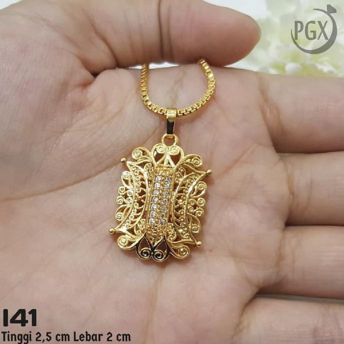 SALE ANTING GIPSY LAPIS EMAS PUTIH PERHIASAN IMITASI YAXIYA JEWELRY 18K 102 ..   Shopee Indonesia