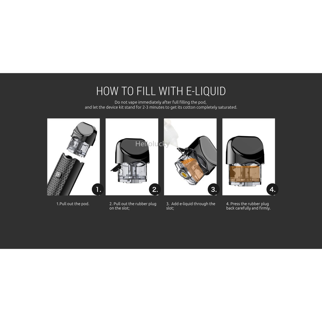 Smok Nord Pod Starter Kit 1100mah Ready Stock | Shopee Indonesia