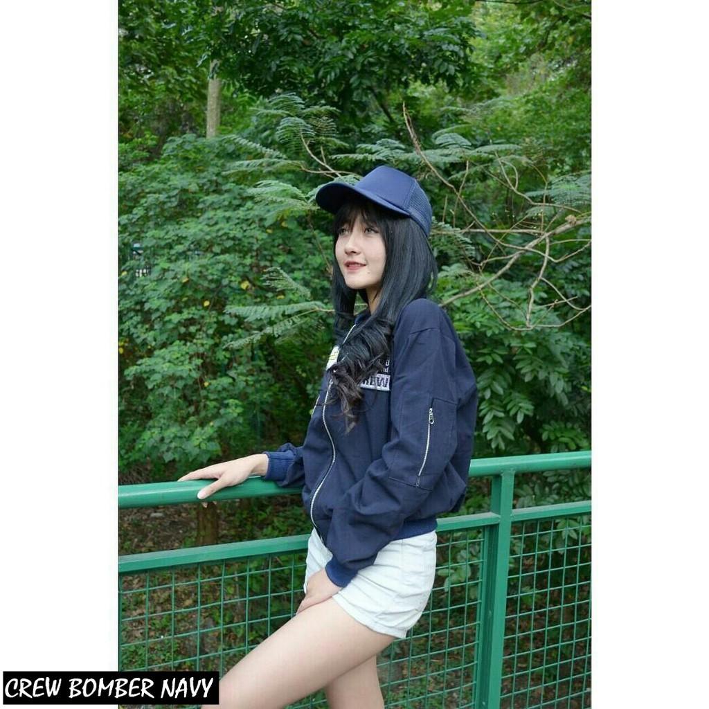 CREW BOMBER grosir jaket sweater baju dress blouse hijab kekinian cewek wanita murah | Shopee Indonesia