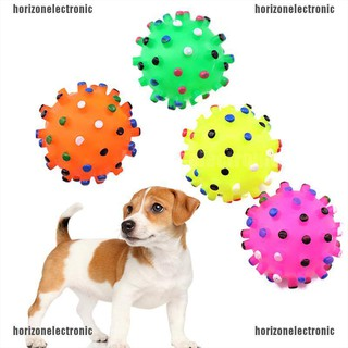Horizonelectronic 1 Pet Puppy Dog Cat Soft Chew Bite Sound Colorful Play Training Rubber Bal Shopee Indonesia