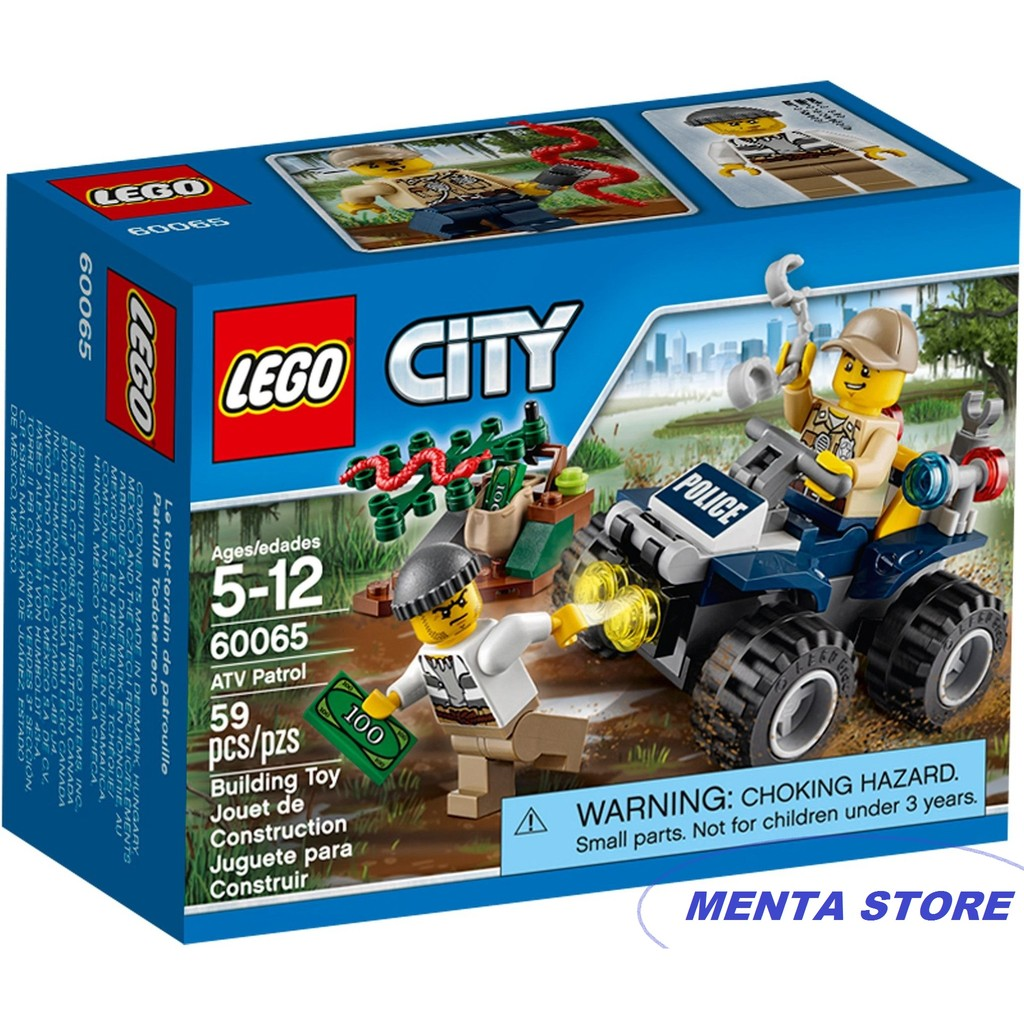 Lego City 60065 Atv Patrol Swamp Police Crook Toy Sealed Original Shopee Indonesia