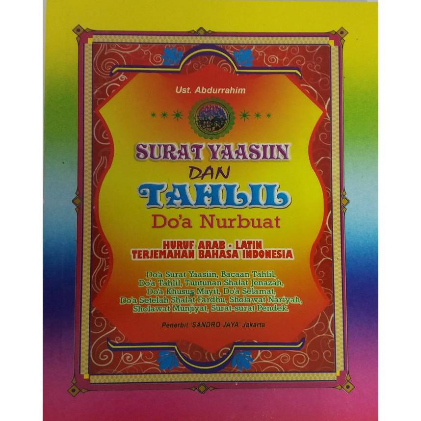 Buku Yasin Tahlil Dan Doa Nurbuat By Betty Olshop